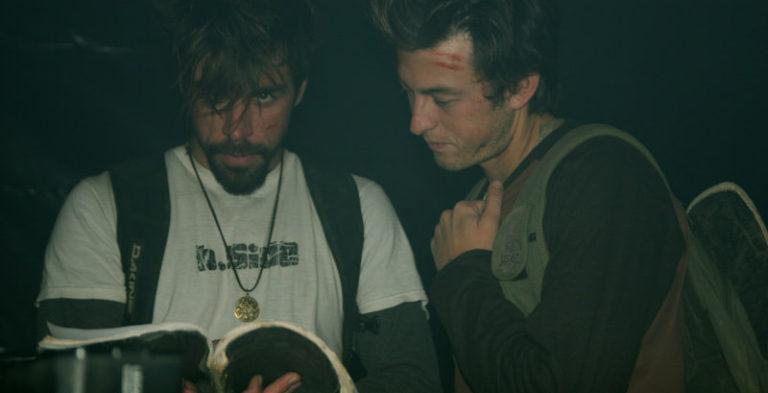 Sean Gray and Chris Blasman snooping around the Director's script.