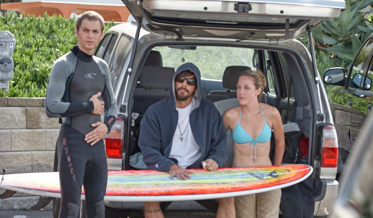 Michael, Sean and Amanda getting ready for their daily surf practice.