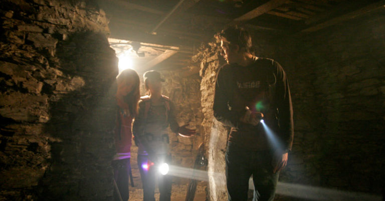Chris, Amanda and Renee getting ready for the next scene.