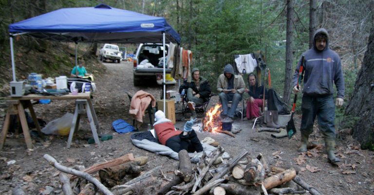 Campground by the mine.