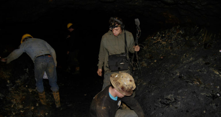 Working underground was no easy task… Right here we were 0.9 miles into the earth…