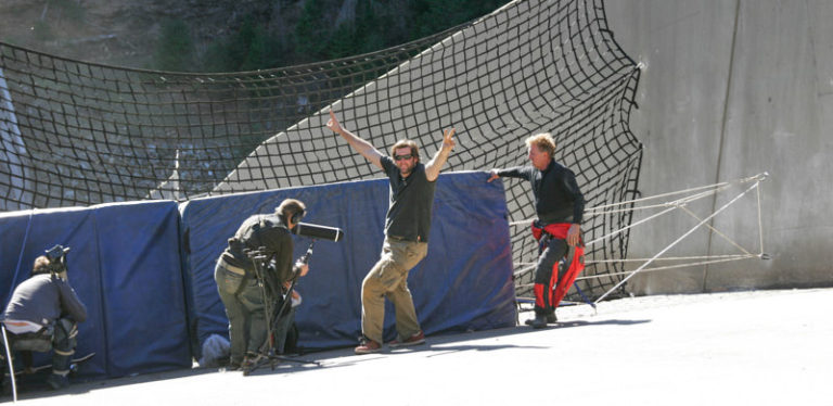 Josh Porter (Co-Producer) having a blast on stunts day.