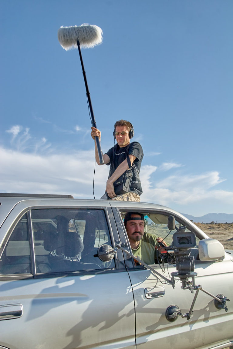 Marc Halford and Tito da Costa comprise the main skeleton crew for the Dry Lake Bed scene.