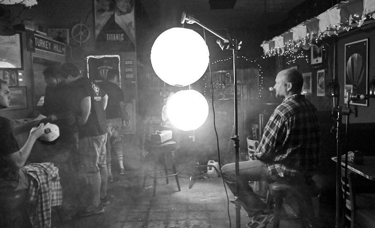 DP Bill Otto doing his magic, lighting this moody scene.