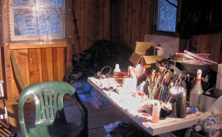 Sarah Wolfe mine make-up studio.